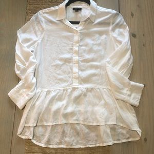 ❤️ A.N.A. High Low Ruffle Hem Popover Top